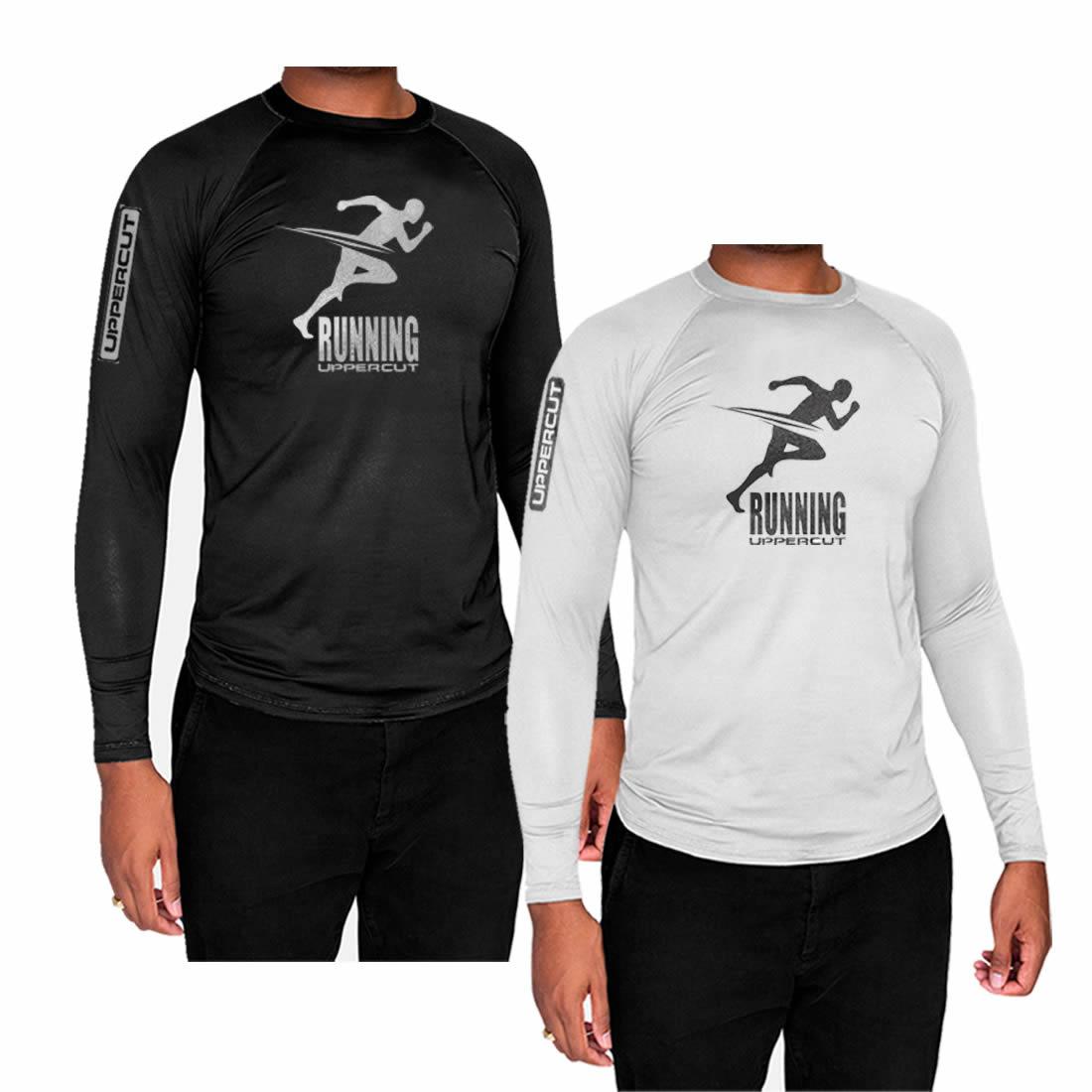 Kit 2 Camisas Proteção Solar ML UV50+ Running Corrida - Kt29