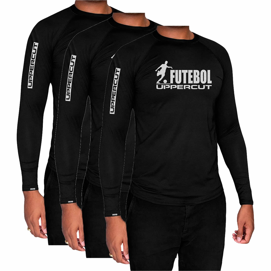 Kit 3 Camisas Proteção Solar ML - UV50+ Futebol - Kt27
