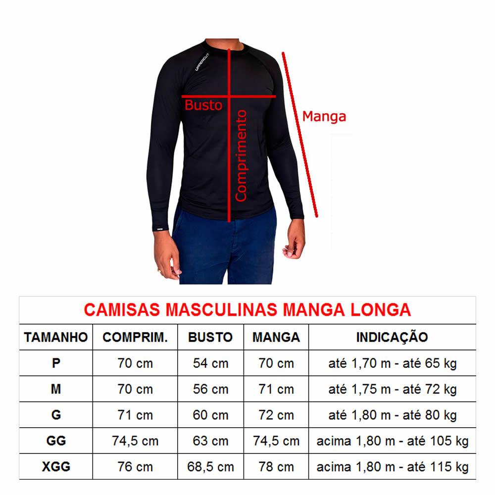 Kit 3 Camisas Proteção Solar ML UV50+ Running Corrida - Kt36