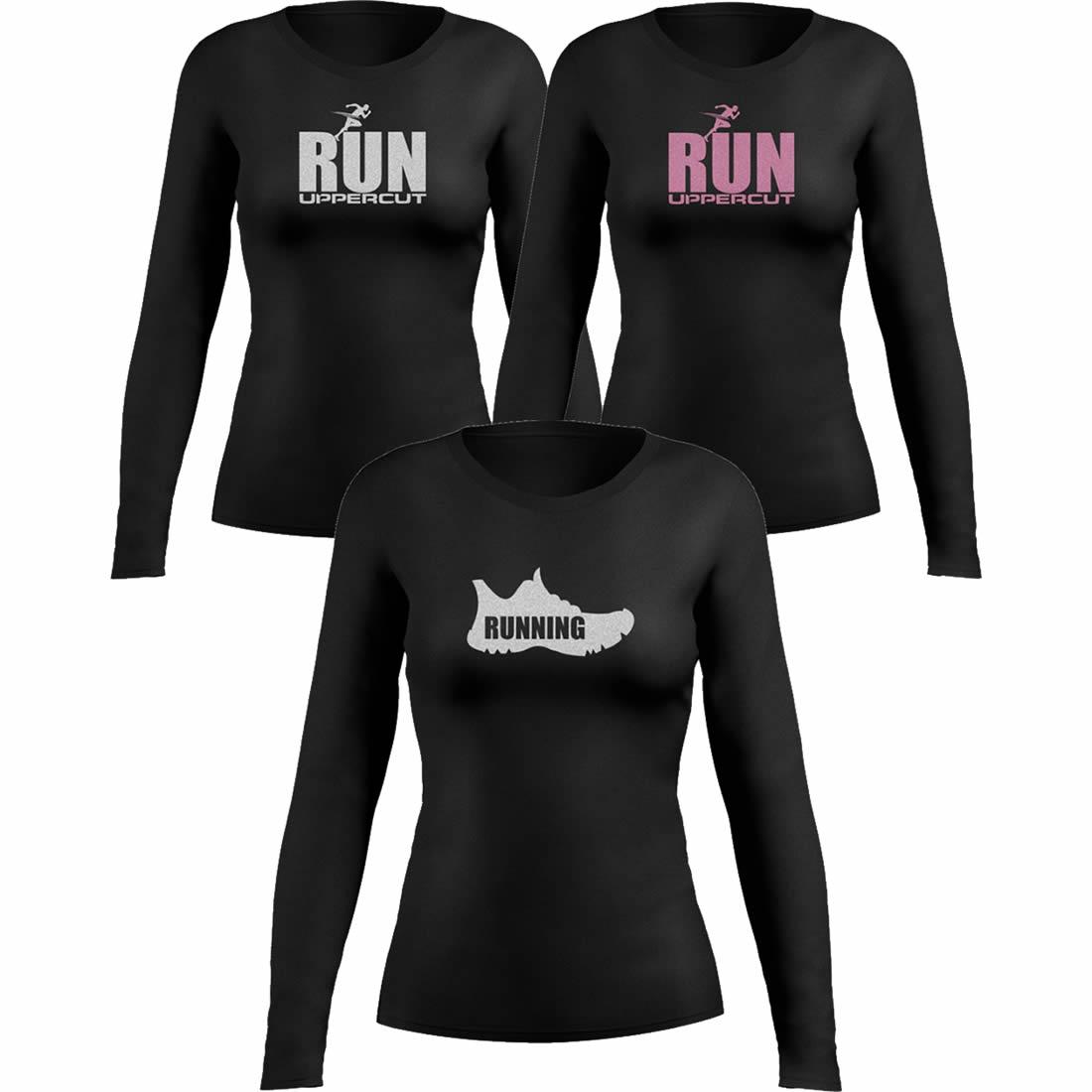Kit 3 Camisas UV-50+ - Corrida Running Feminina - Kt15