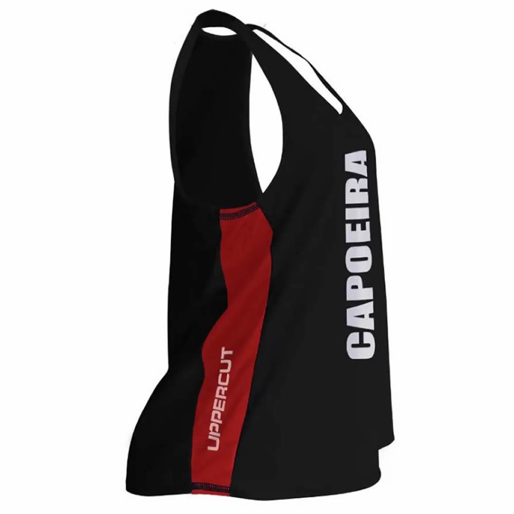 Regata Dry Fit - Capoeira VTC - UV-50+ - Feminina - Pre/Verm