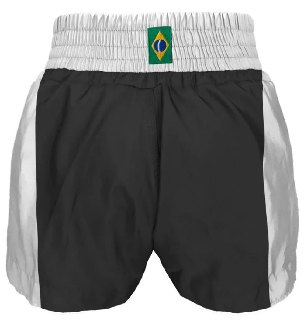 Short Muay Thai Kickboxing Caveira Tribal - Preto/Branco