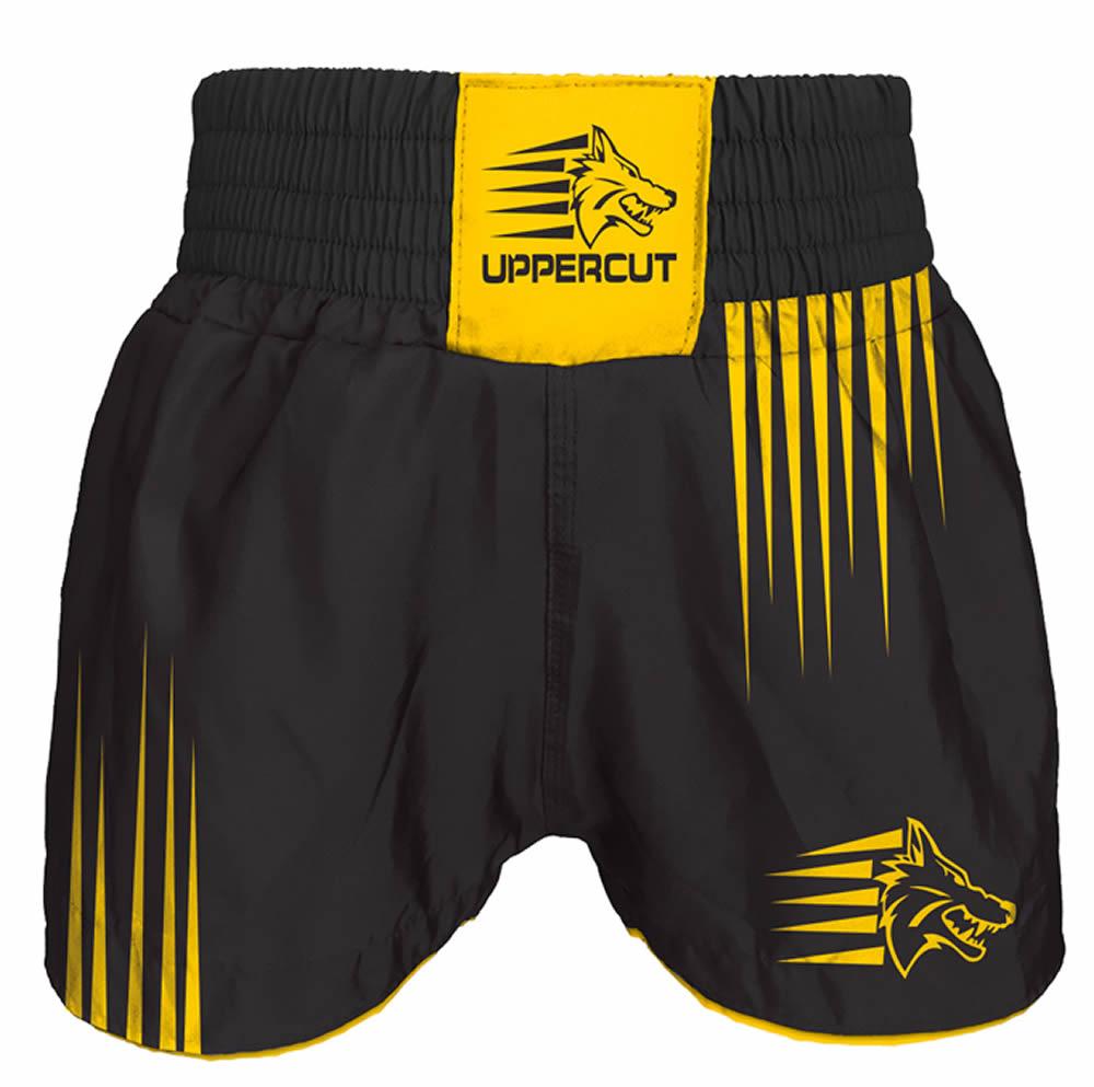 Short Muay Thai Kickboxing Claw Garras - Preto/Amarelo