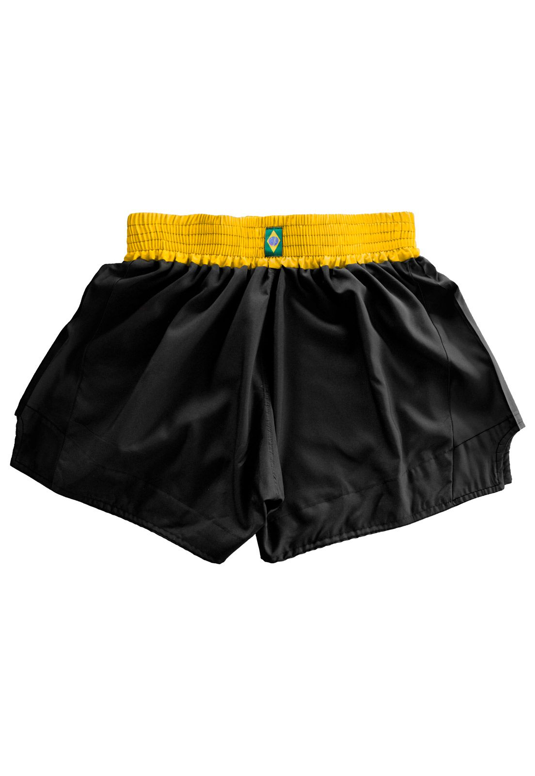 Short Muay Thai Kickboxing Glove Tribal - Preto/Amar
