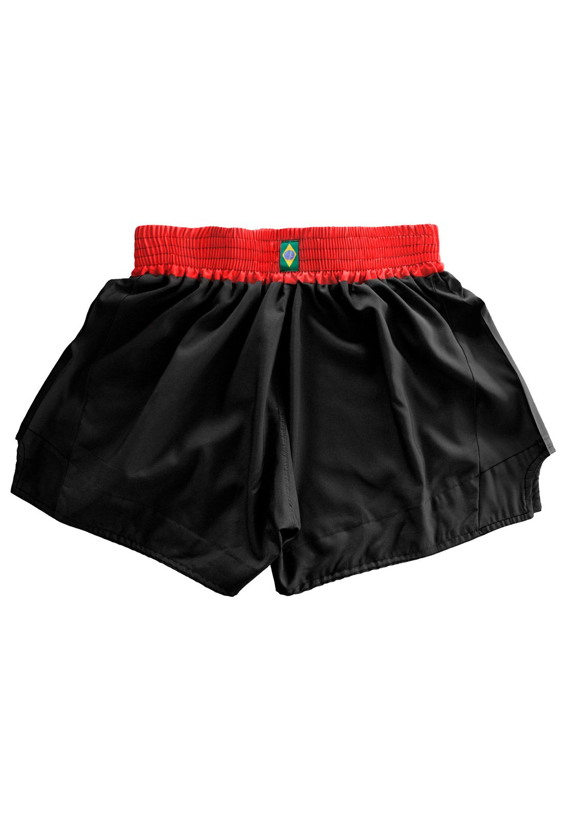 Short Muay Thai Kickboxing Caveira Tribal - Preto/Verm