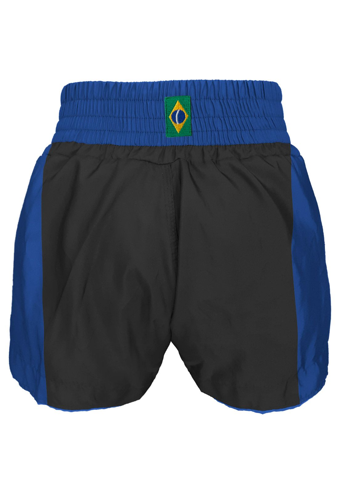 Short Muay Thai Traditional Premium - Pre/Azul