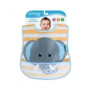 Babador Impermeável com bolso coletor Elefante - Clingo