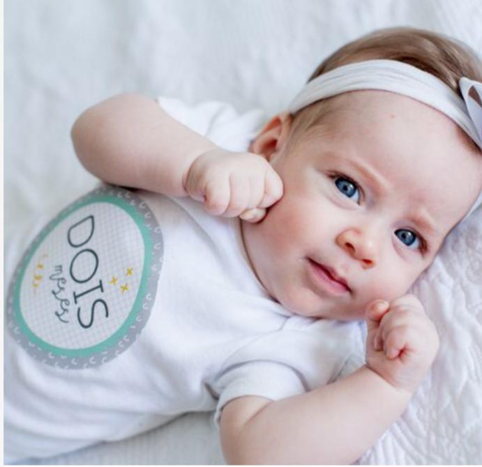 Adesivos do Bebê Mês a Mês - Coloré