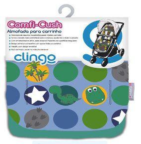 Almofada para Carrinho Confi Cush - Dinossauro - Clingo