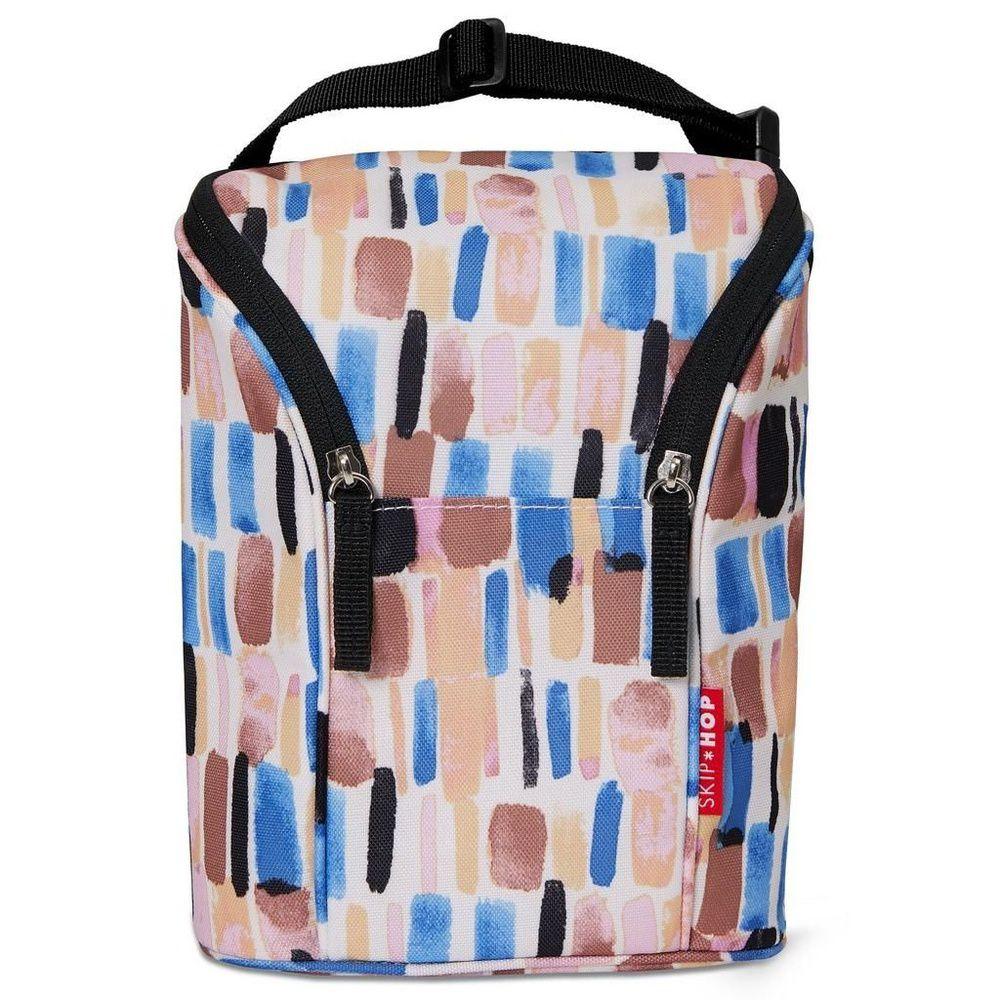Bolsa Térmica Double Bottle Bag (Grab & Go) Brush Stroke - Skip Hop