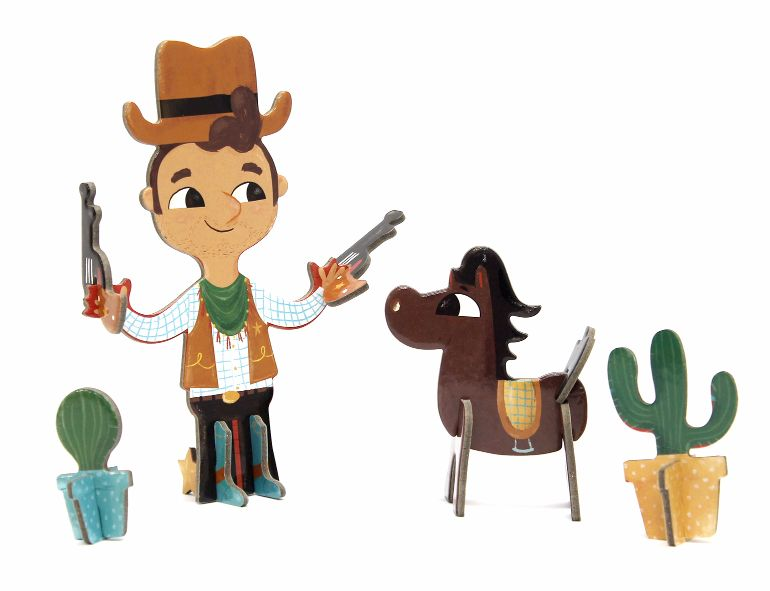 Brinquedo 3D Puzzle Cowboy - Krooom