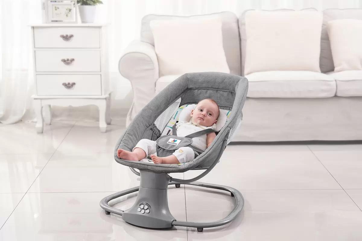 Cadeira De Balanço Automática Com Bluetooth - Mastela