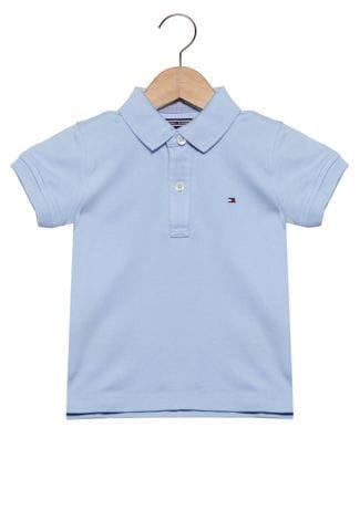 Camiseta Gola Polo Azul Clara - Tommy Hilfiger®