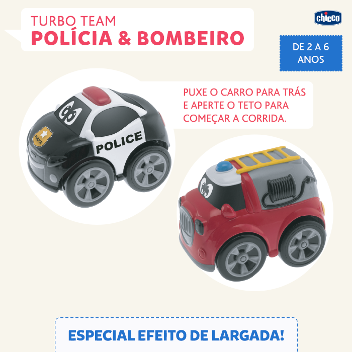 Carrinho Turbo Team Bombeiro - Chicco