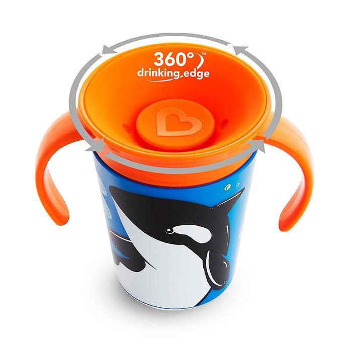 Copo 360 com Alças 6m+ Baleia - Munchkin