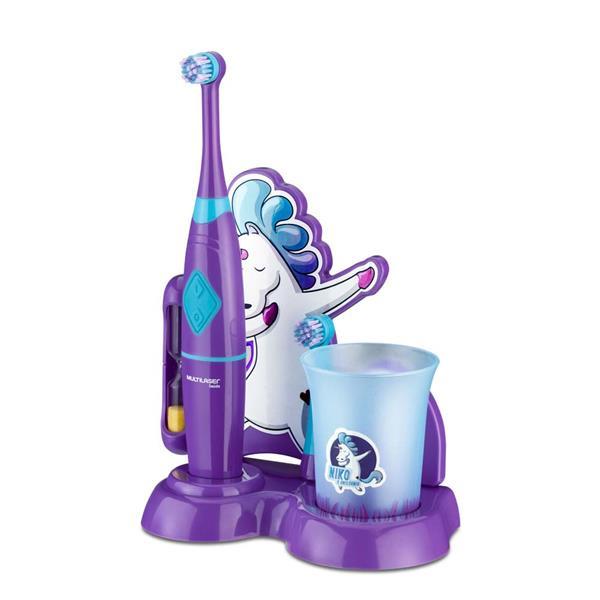 Escova Dental Elétrica Rotacional Unicórnio - Multilaser