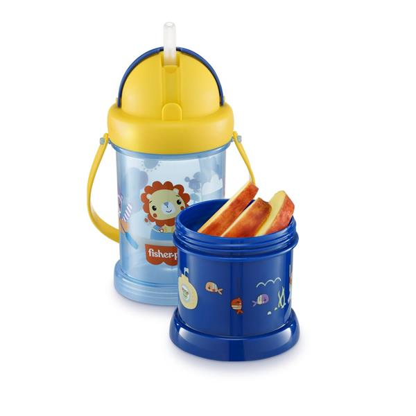 Garrafa Com Porta Snack Playful - Fisher Price