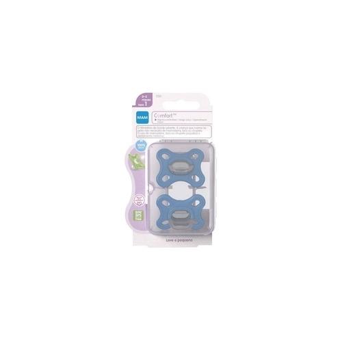 Kit 2 Chupetas MAM Comfort 0 - 2 meses Azul/Rosa - MAM