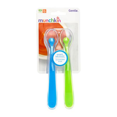 Kit 2 Colheres Silicone Azul/Verde - Munchkin