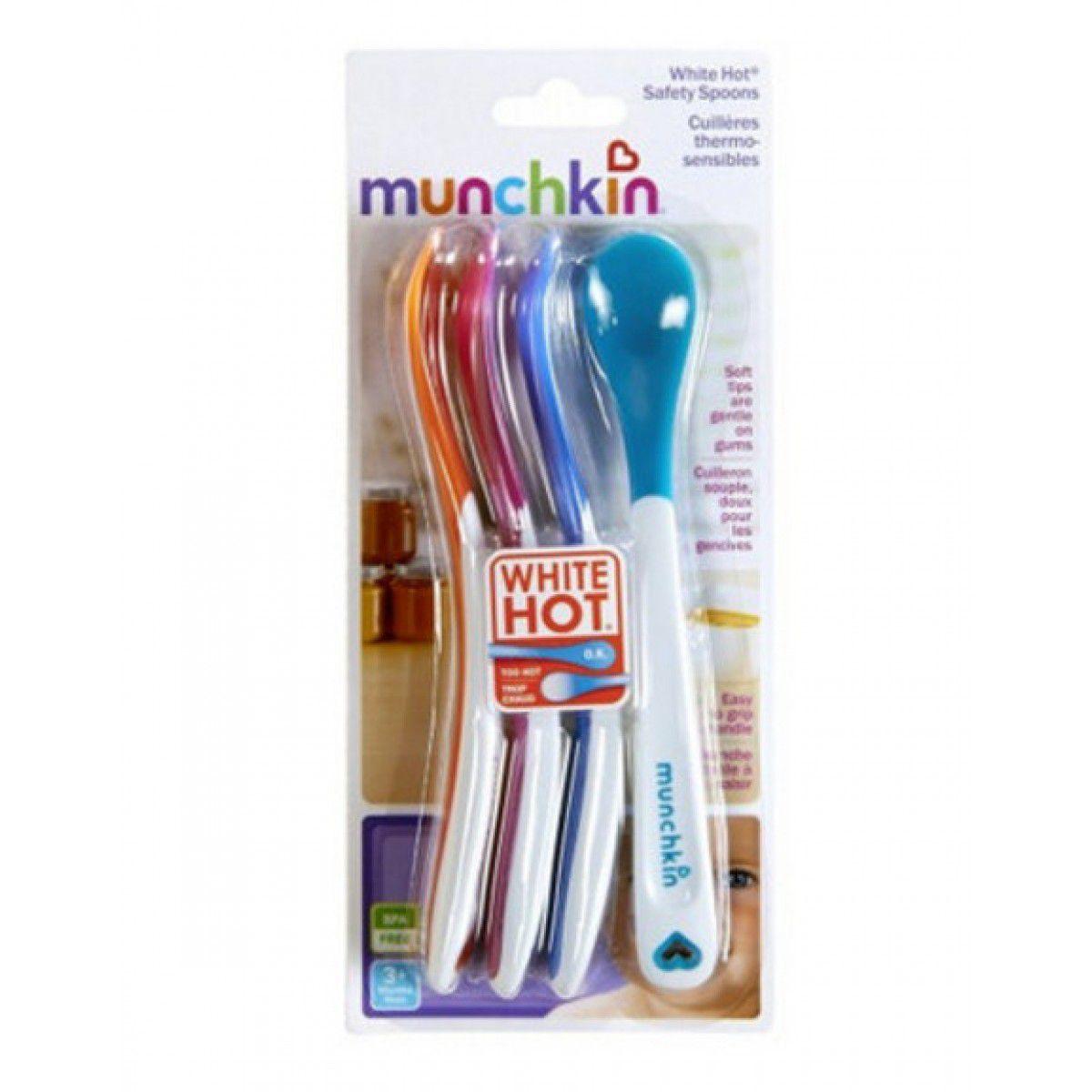 Kit 4 Colheres Termo Sensíveis - Munchkin
