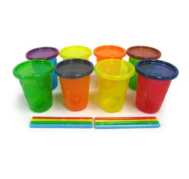 Kit 4 Copos com Canudo Coloridos 296 ml - The First Years