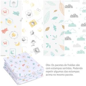 Kit 5 Fraldas Super Luxo  Estampada - Mami