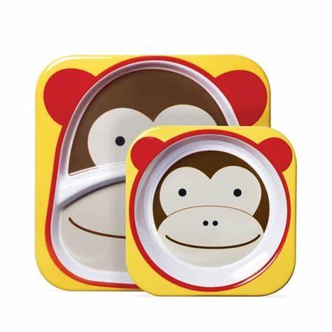 Kit de Prato + Bowl Macaco - Skip Hop