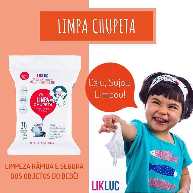Limpa Chupeta - Lenços Umedecidos Higienizadores - Lik Liuc