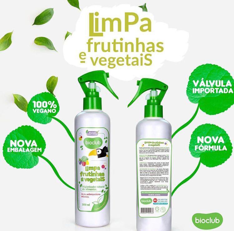 Limpa Frutinhas e Vegetais Orgânico 300ml - Bioclub