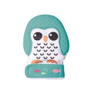 Luva Mordedor Pinguim Verde - Girotondo