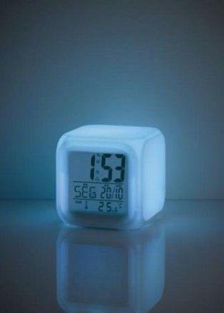Luz Noturna com Relógio e Termômetro - Color Fun