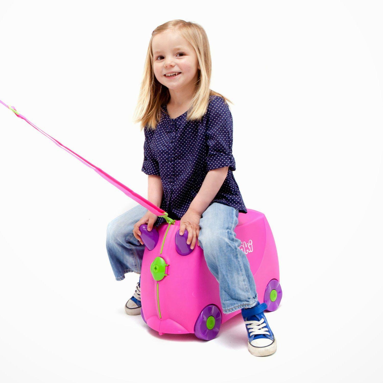 Mala Infantil Trunki Rosa - Viagem mais divertida!