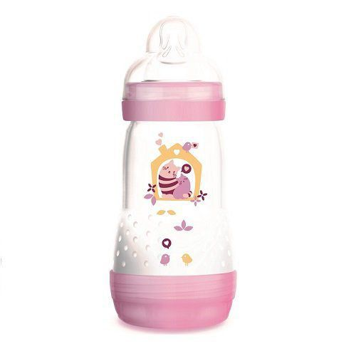 Mamadeira Easy Start Autoesterilizável Rosa 260ml - MAM