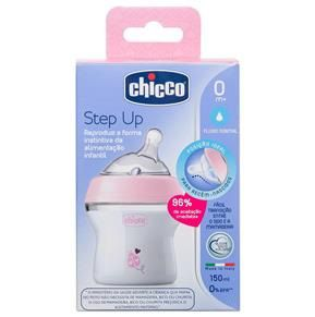 Mamadeira Step Up 0m+ 150 ml - Rosa- Chicco