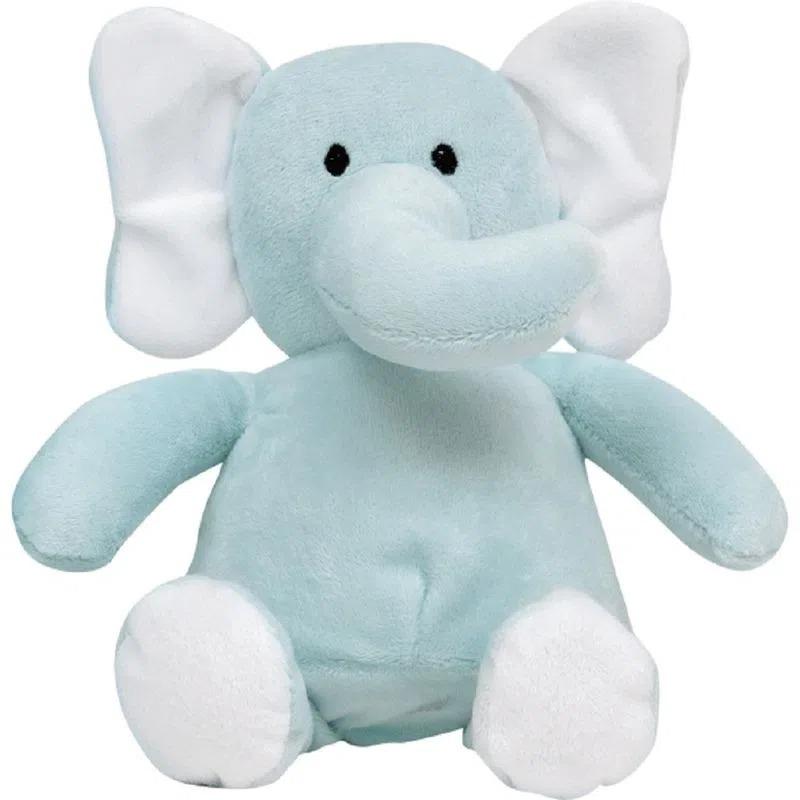 Manta Com Naninha De Elefante Azul _ Buba