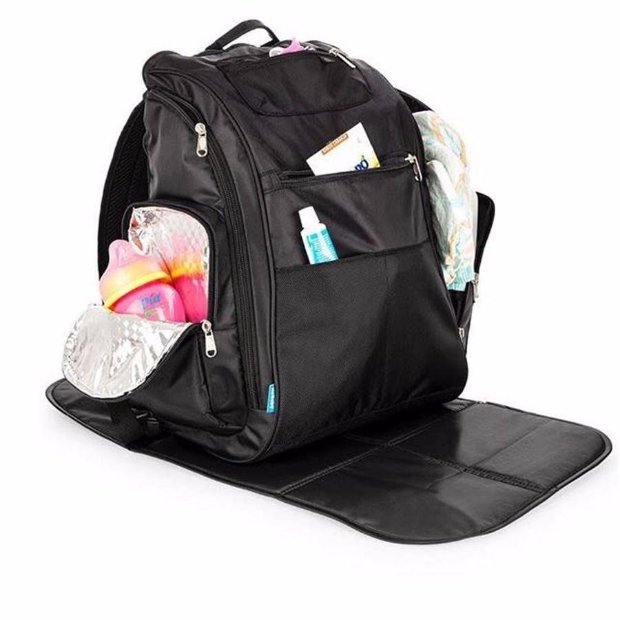 Mochila Maternidade Back Pack Preta - Kababy