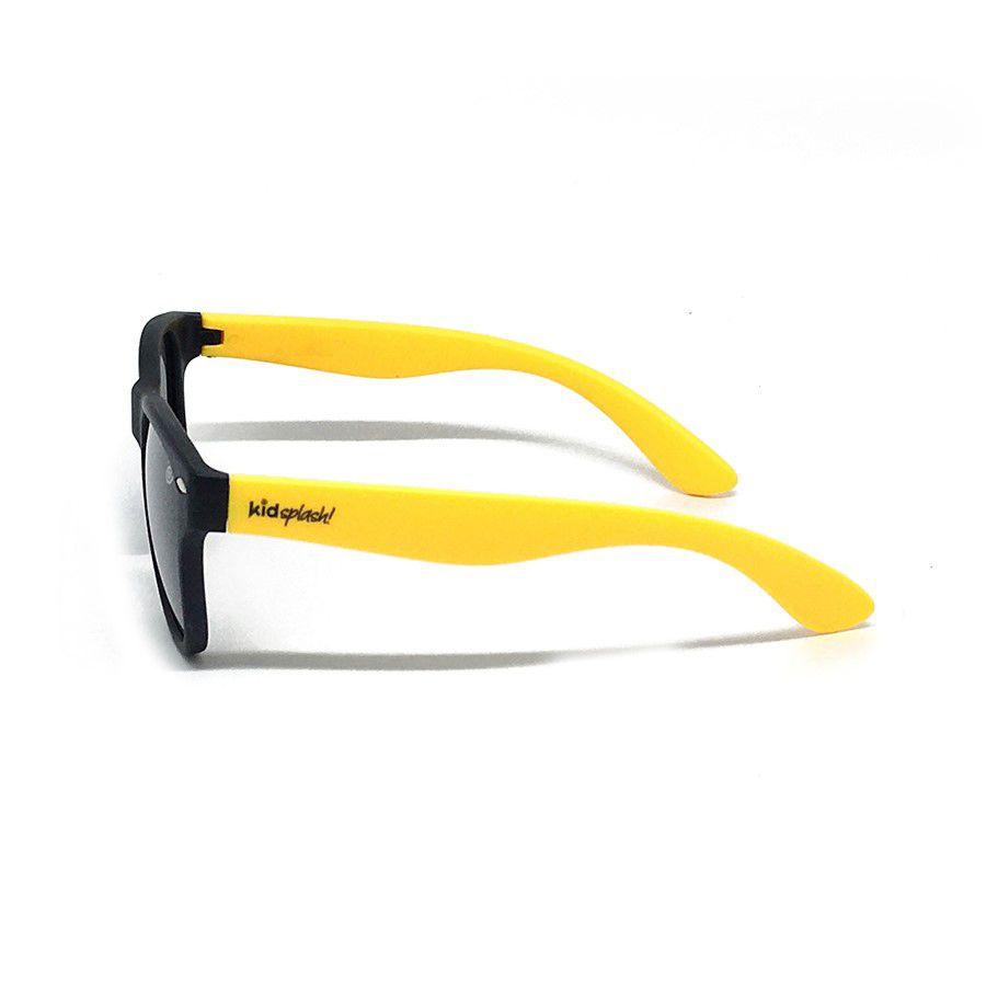 Óculos de Sol Flexível Polarizado e Proteção UV400 - Preto/Amarelo - 1 a 5  anos - Kidsplash