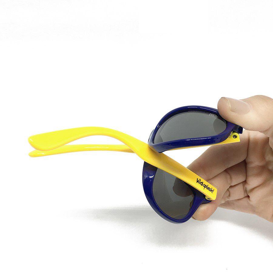 Óculos de Sol Flexível Polarizado e Proteção UV400 - Preto Espelhado Rosa - 1 a 5  anos - Kidsplash