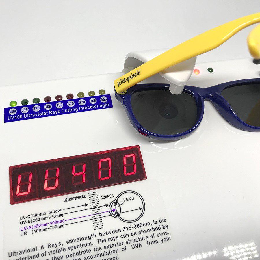 Óculos de Sol Flexível Polarizado e Proteção UV400 - Preto Lente Espelhada - 4 a 8 anos - Kidsplash