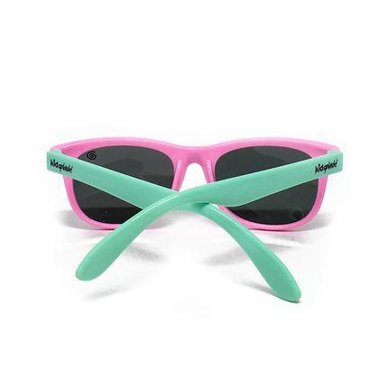 Óculos de Sol Flexível Polarizado e Proteção UV400 - Rosa/Verde Água - 4 a 8  anos - Kidsplash