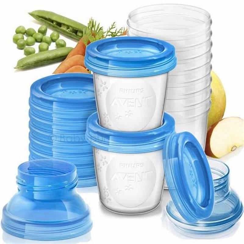 Kit 10 Potes para Armazenamento Leite e Alimentos - Philips Avent