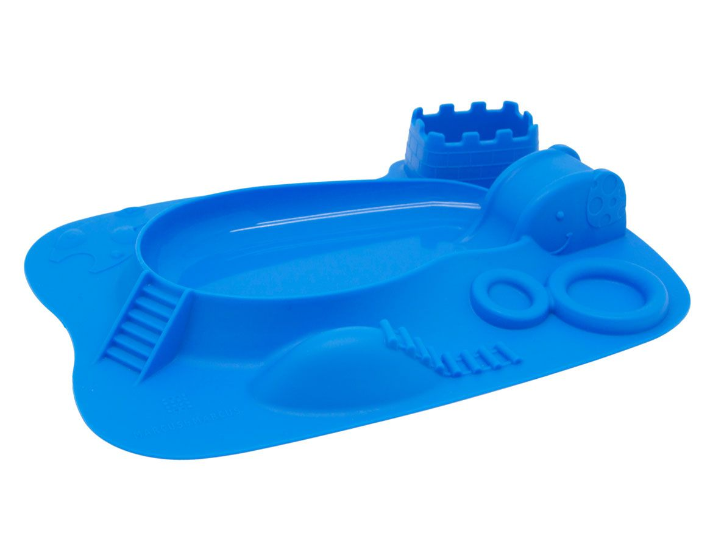 Prato/Jogo Americano Hipopótamo Azul - Marcus & Marcus