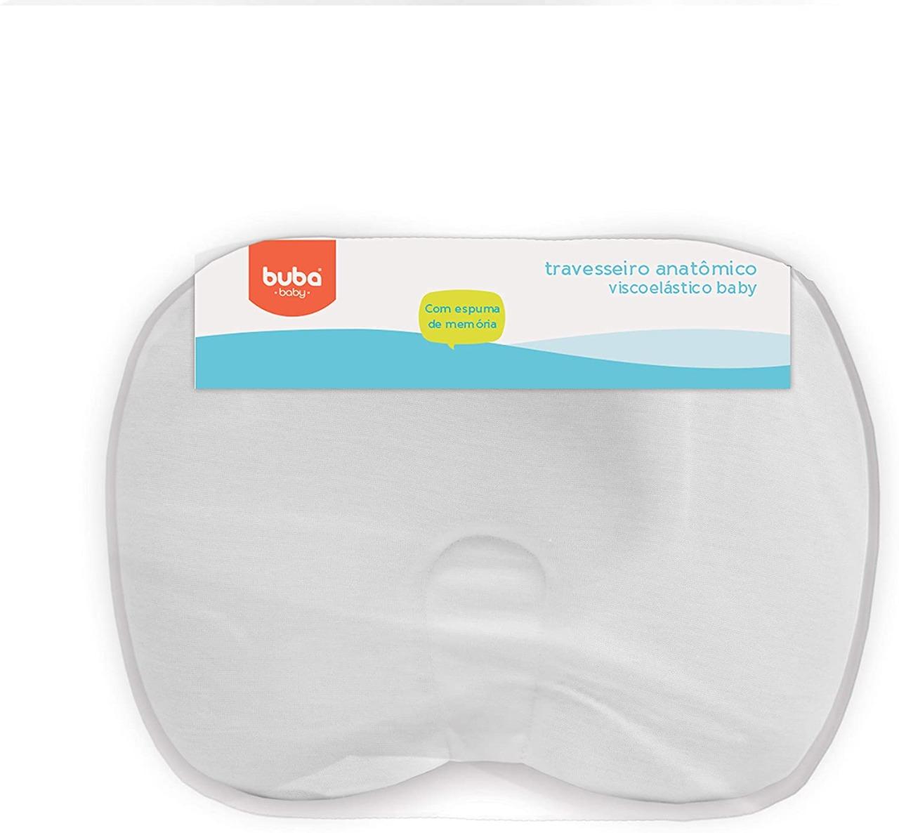 Travesseiro Anatômico Viscoelastico Baby Branco - Buba