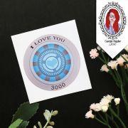 Adesivo - I Love You 3000