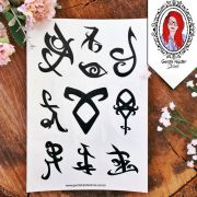 Tatuagens Hunters Temporárias Runas