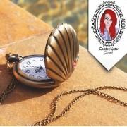 Colar Relógio Concha Pequena Sereia