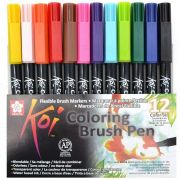 Kit Canetas Brush Koi - 12 Cores