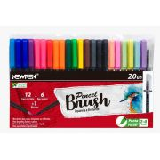 Kit Canetas Brush New Pen - 20 Unidades