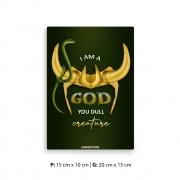 Placa Decorativa Loki Eu Sou Um Deus
