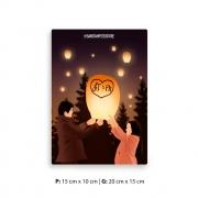 Placa Decorativa Garotos Que Amei / Lanterna